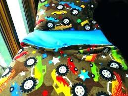 monster truck bedding set toddler boys fleece bed blue trucks full size
