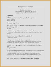 Simple Job Resume Outline Resume Outline For High School Students Best Sample A Simple Resume