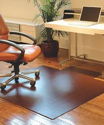 dark cherry bamboo large roll up office chair mat