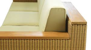 teak and synthetic rattan asia
