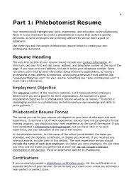 phlebotomist sample - Phlebotomy Sample Resume