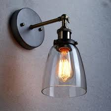 wall sconce glass loft vintage industrial wall lamps clear glass wall sconce warehouse wall light fixtures