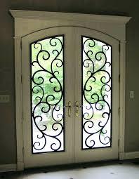 faux wrought iron window inserts photo w