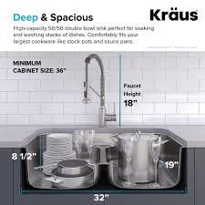 Kraus Ellis 33 Inch 16 Gauge Undermount Kitchen Sink Combo Set With