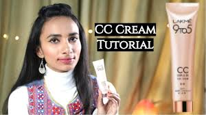 lakme cc makeup tutorial for beginners how to apply lakme 9 to 5 cc cream