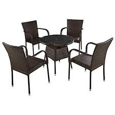 outdoor garden rattan table and chair