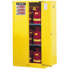sure grip ex flammable safety cabinet 60 gallon s c doors yellow intl