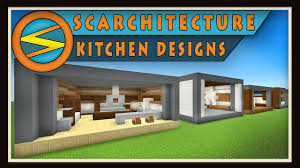 Minecraft Modern Kitchen Minecraft Five Modern Kitchen Designs Scarchitecture Ep1 Youtube