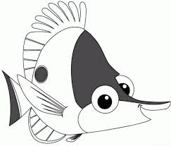 Finding Nemo Characters Coloring Pages Just Colorings