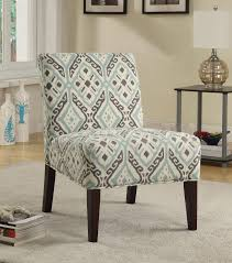 chair patterned accent chairs coa beige brown teal fabric arms