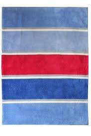 nautical blues white grey red rug