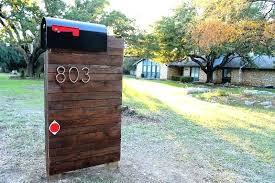 mailbox post ideas. Unique Mailbox Post Ideas Image Of Wood R