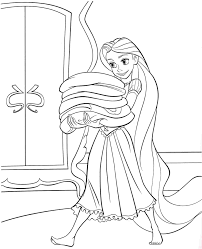 Small Picture coloring pages disney princess tangled rapunzel free for kids