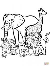 African Animals Coloring Page From Lions