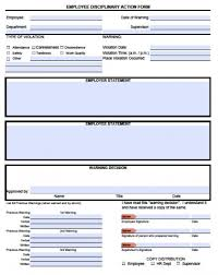 Disciplinary Forms For Employees Free Free Write Up Forms For Employees Disciplinary Under