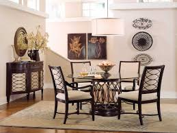 dining room table glass inlay. furniture intrigue 5 piece glass top round dining set with upholstered back chairs - dark wood maple stringer inlay room table