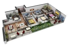 "Three "" "" Bedroom Apartment House Plans   Architecture  amp  Design  spacious   bedroom house plans"