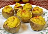 baby roasted deviled potatoes