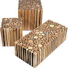Creative Custom Log Craft Rustic Modern Wood Furniture