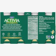 dannon activia probiotic dailies low fat vanilla yogurt drink 155 15