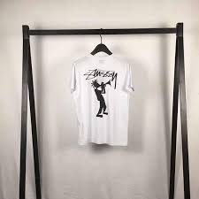 Buy Cheap Stussy Cartoon Character White Tee Online For Sale