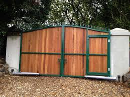steel framed gates clad with hardwood perranporth cornwall