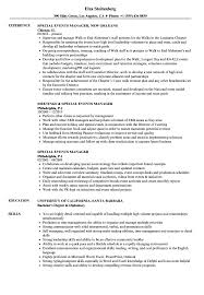 Event Manager Resume Examples Special Events Manager Resume Samples Velvet Jobs 8