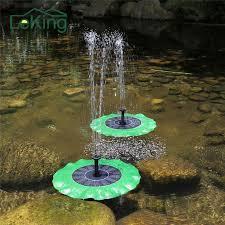 garden fountain. Modren Garden Solar Power Water Fountain Garden Floating Green Lotus Leaf Shaped  Artificial Outdoor For Multi On