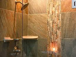 bathroom shower tile designs photos. Wall Mounted Head Shower Attached On Grey Tile Ideas Feat Mosaic Glass Accent Bathroom Designs Photos L