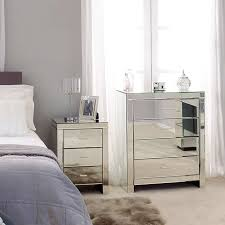 Mirrored Bedroom Cabinets Gold Mirrored Bedroom Furniture Wooden Headboard Next To Modern