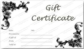 gift certificates format black glades gift certificate template