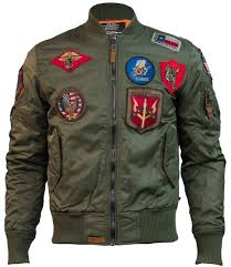 top ma 1 nylon er jacket with patches