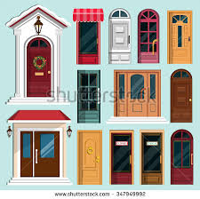 christmas front door clipart.  Front Set Of Detailed Colorful Front Doors To Private Houses And Buildings Door  With Christmas Wreath Inside Front Clipart L
