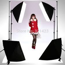 photography rectangle continuous softbox lighting kit 4pcs 50x70cm softbox 2pcs light holder stand photo studio equipment
