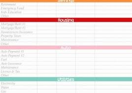 Monthly Budget Planner Spreadsheet And 30 Content Upgrade