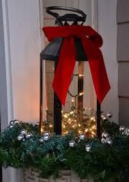 Lichterketten In Einer Kerzenlaterne Deko Hauseingang
