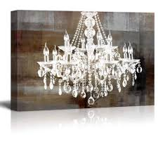 framed crystal chandelier vintage large canvas wall art print picture home decor