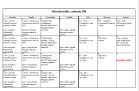 Sample Training Calendar Sample Training Calendar WELCOME TO LOGAN TRI 1