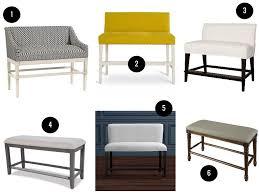 bar stool bench. Marcello Counter Bench In Ellie Indigo, $724, Ballard Designs . 2. Bar Stool