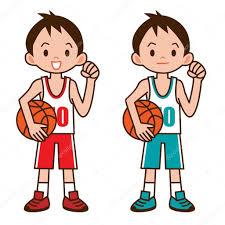 Jongen om basketbal te spelen vectorafbeelding door © ankomando ⬇  Vectorstock #125360032