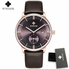 online get cheap watches for thin wrists aliexpress com alibaba wwoor brand ultra thin date genuine leather men quartz watch rose gold casual sports watches men