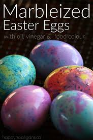 Food Dye Color Chart For Easter Eggs How To Make Marbleized Easter Eggs Happy Hooligans