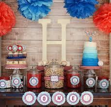 kara s party ideas home one baseball themed birthday party via