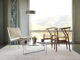 scandinavian dining room wishbone chairs
