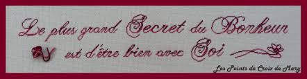 Citation Bonheur Les Points De Croix De Mary
