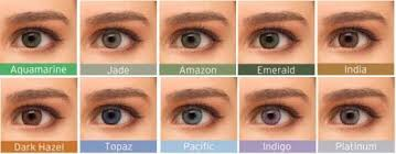 Contact Lenses Colour Chart How To Choose Coloured Contact Lenses For Dark Skin