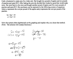 apples and peaches students are asked to solve a system of moving forward algebra 2 word problems worksheet