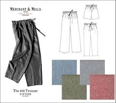 Easy Sewing Patterns For Beginners Gorgeous MerchantMills48TrouserPatternsuggestions