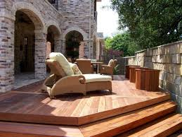 wood patio ideas. Three Level Wooden Patio Wood Ideas 2