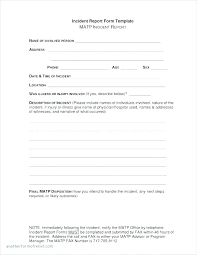 Procedure Note Template Patient Incident Report Form Template Injury Free Accident